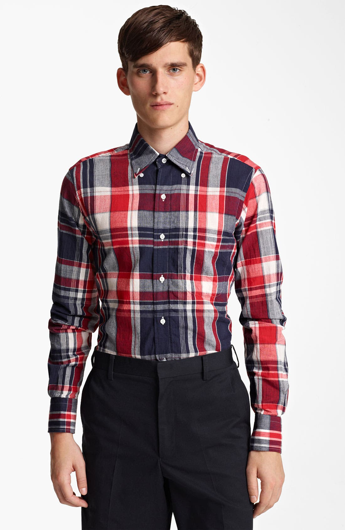 Alternate Image 1 Selected - Thom Browne Madras Plaid Cotton Shirt