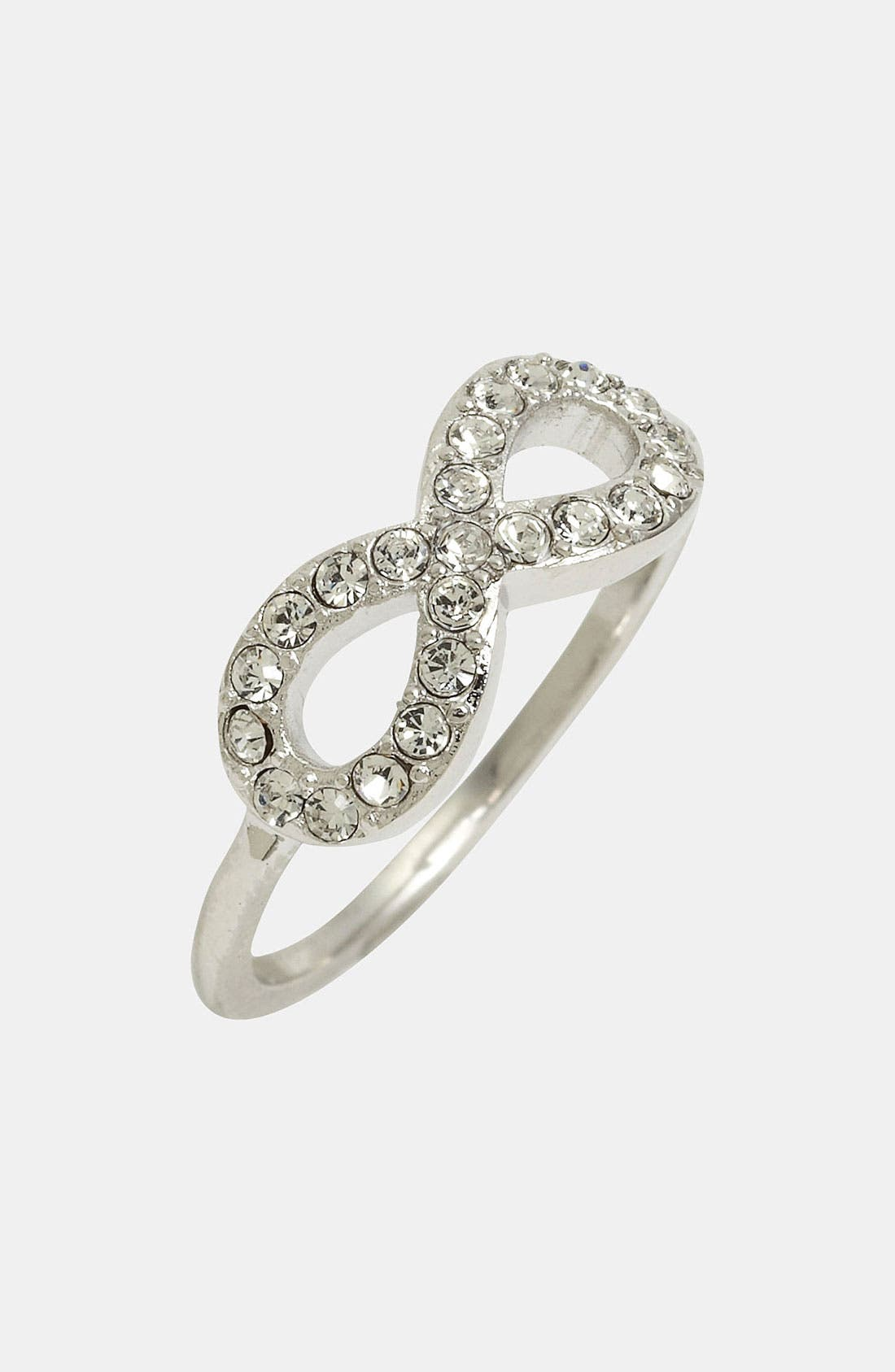 Main Image - Ariella Collection Pavé Infinity Ring