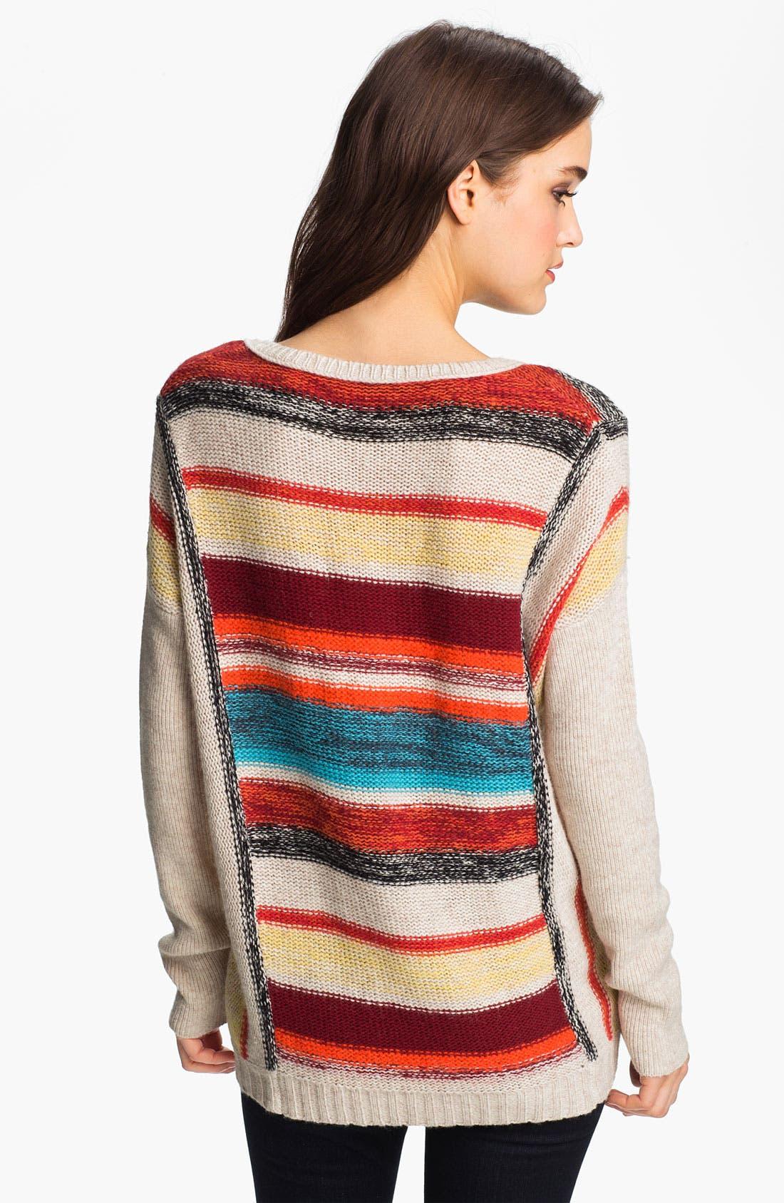 Alternate Image 2  - Velvet by Graham & Spencer Stripe Sweater