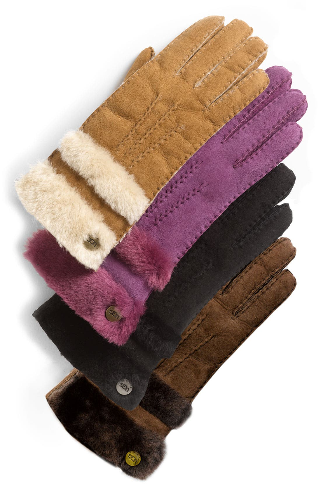 Alternate Image 1 Selected - UGG® Australia 'Classic' Genuine Shearling Gloves