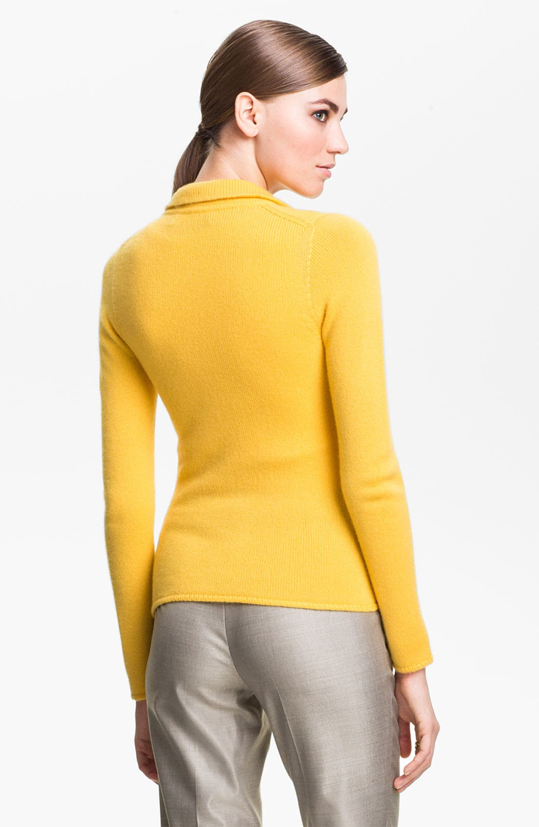 Alternate Image 4  - St. John Collection Fitted Cashmere Knit Jacket