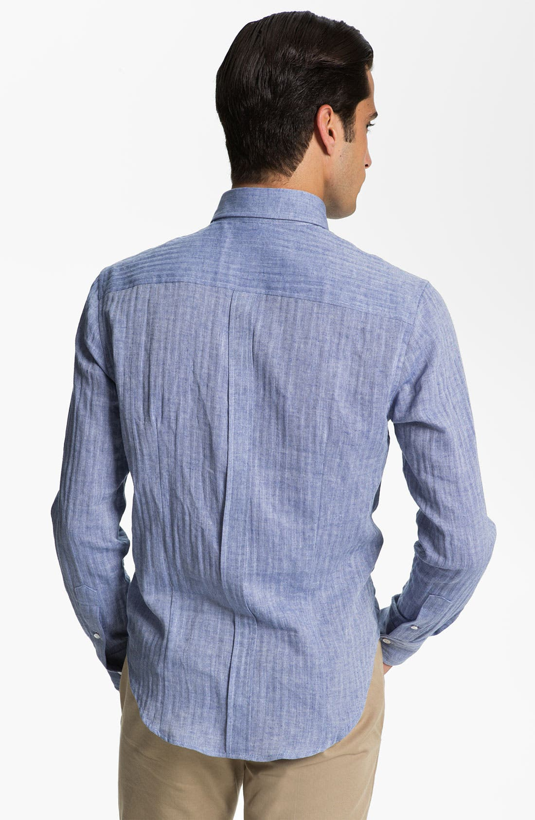 Alternate Image 2  - Band of Outsiders Herringbone Woven Shirt