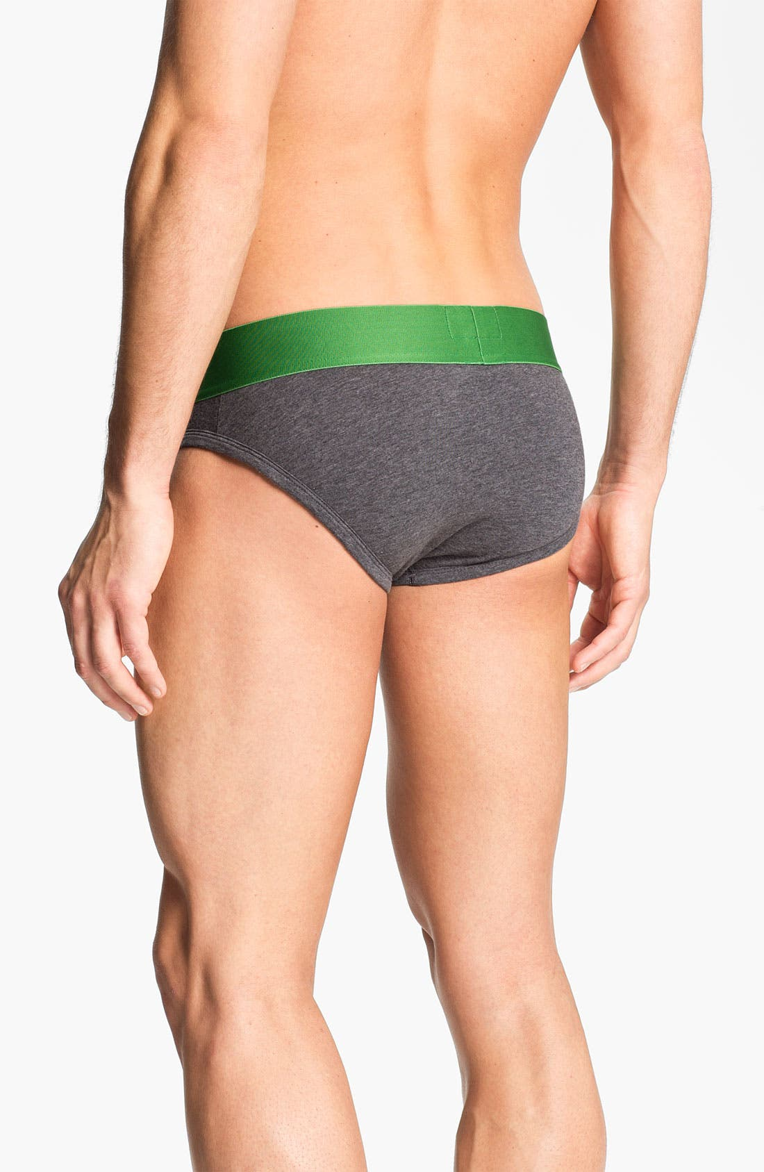 Alternate Image 2  - Emporio Armani 'Basic' Stretch Cotton Briefs