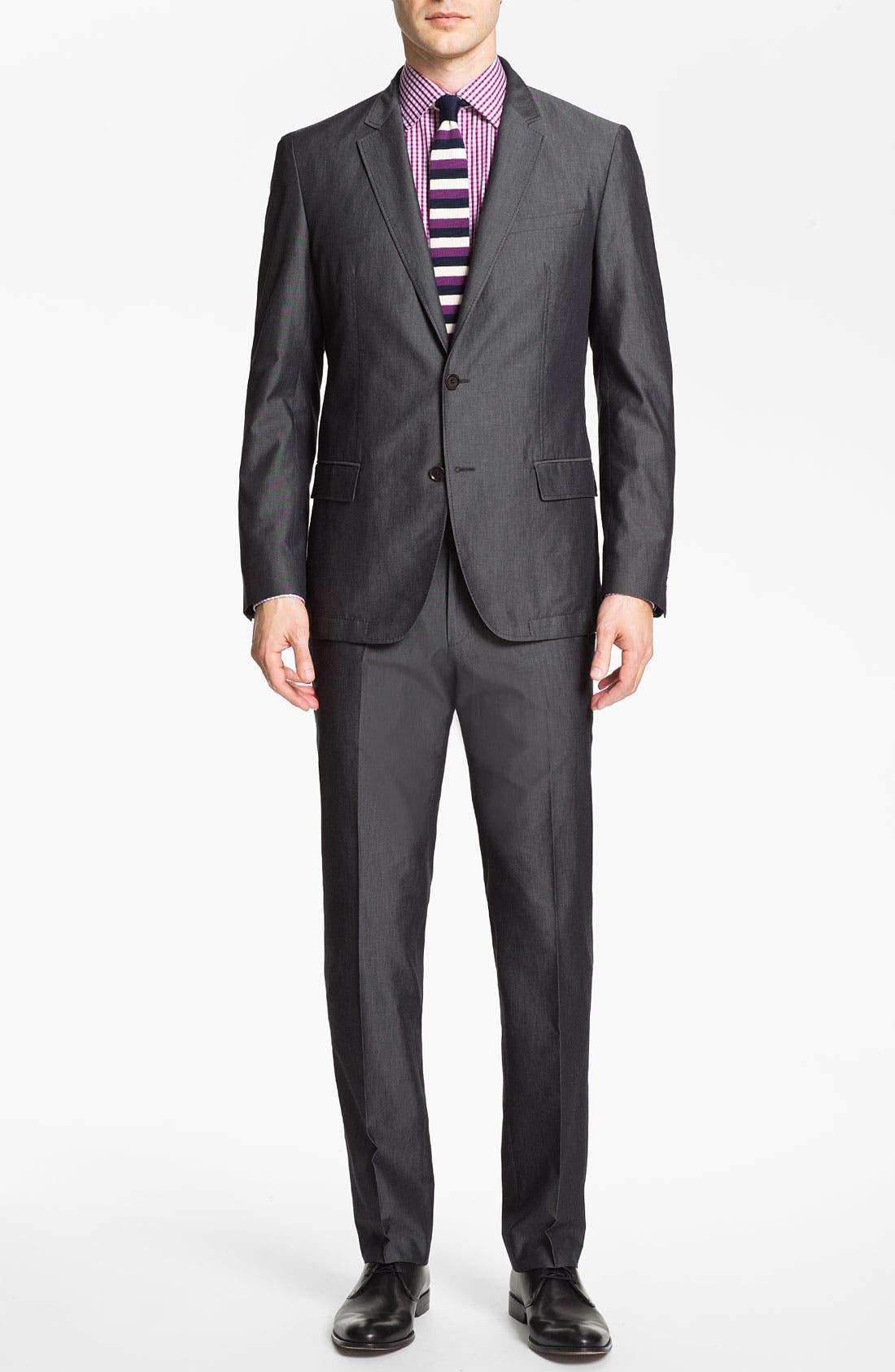 Alternate Image 2  - BOSS HUGO BOSS 'Heaven/Fly' Trim Fit Cotton Blend Suit