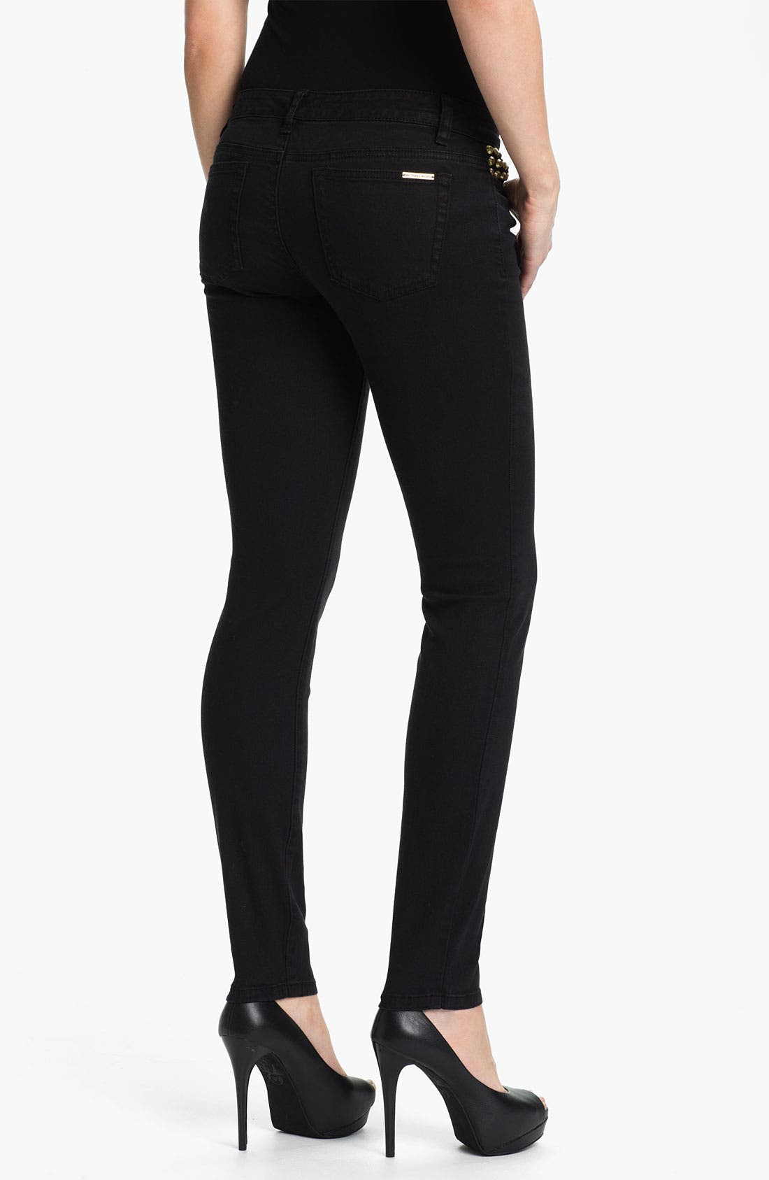 Alternate Image 2  - MICHAEL Michael Kors 'Astor' Studded Denim Leggings