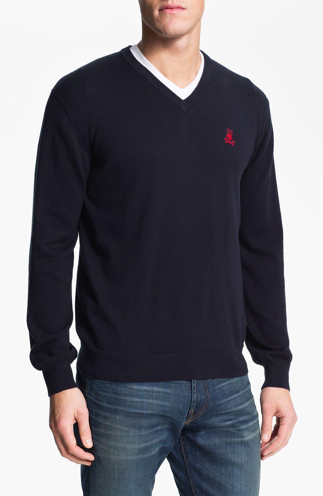 Main Image - Psycho Bunny V-Neck Sweater