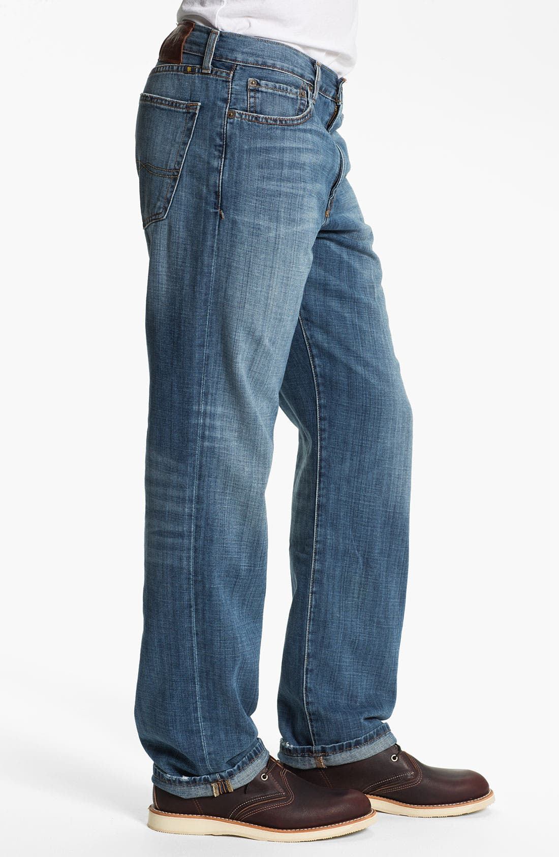 Alternate Image 3  - Lucky Brand '329 Classic' Straight Leg Jeans (Light Gessner)