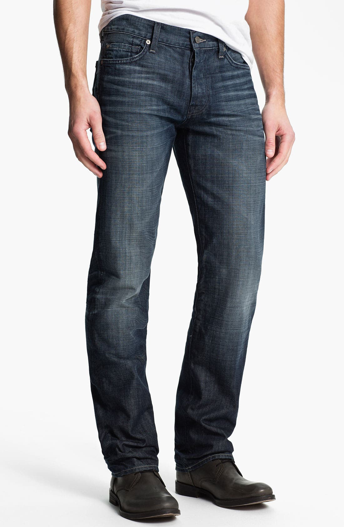 Alternate Image 2  - 7 For All Mankind® 'Standard' Straight Leg Jeans (Crater Lake)