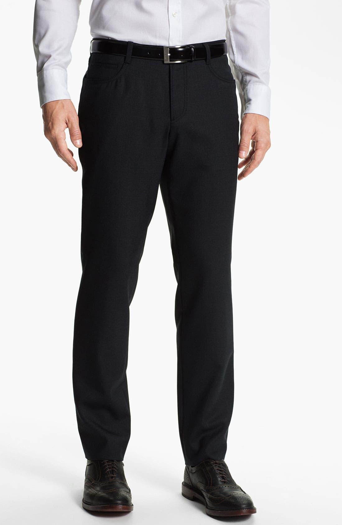 Alternate Image 1 Selected - BOSS Black 'Gebe' Five Pocket Trousers