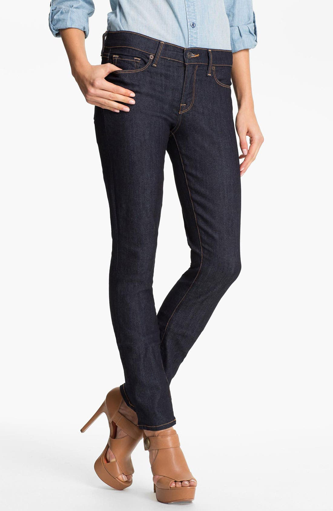 Alternate Image 1 Selected - Lucky Brand 'Sofia'  Skinny Jeans (Resin)