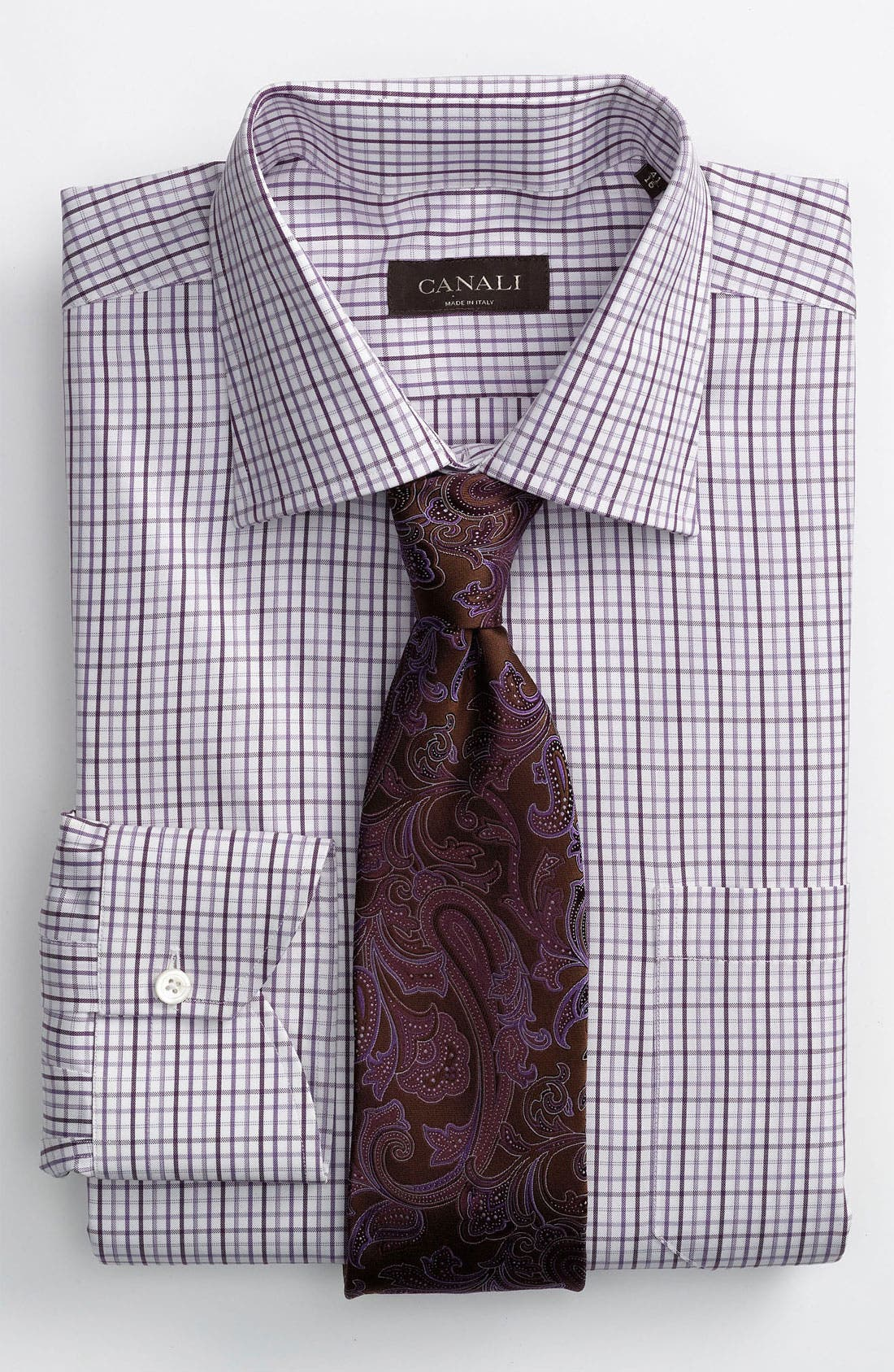 Alternate Image 2  - Canali Modern Fit Dress Shirt