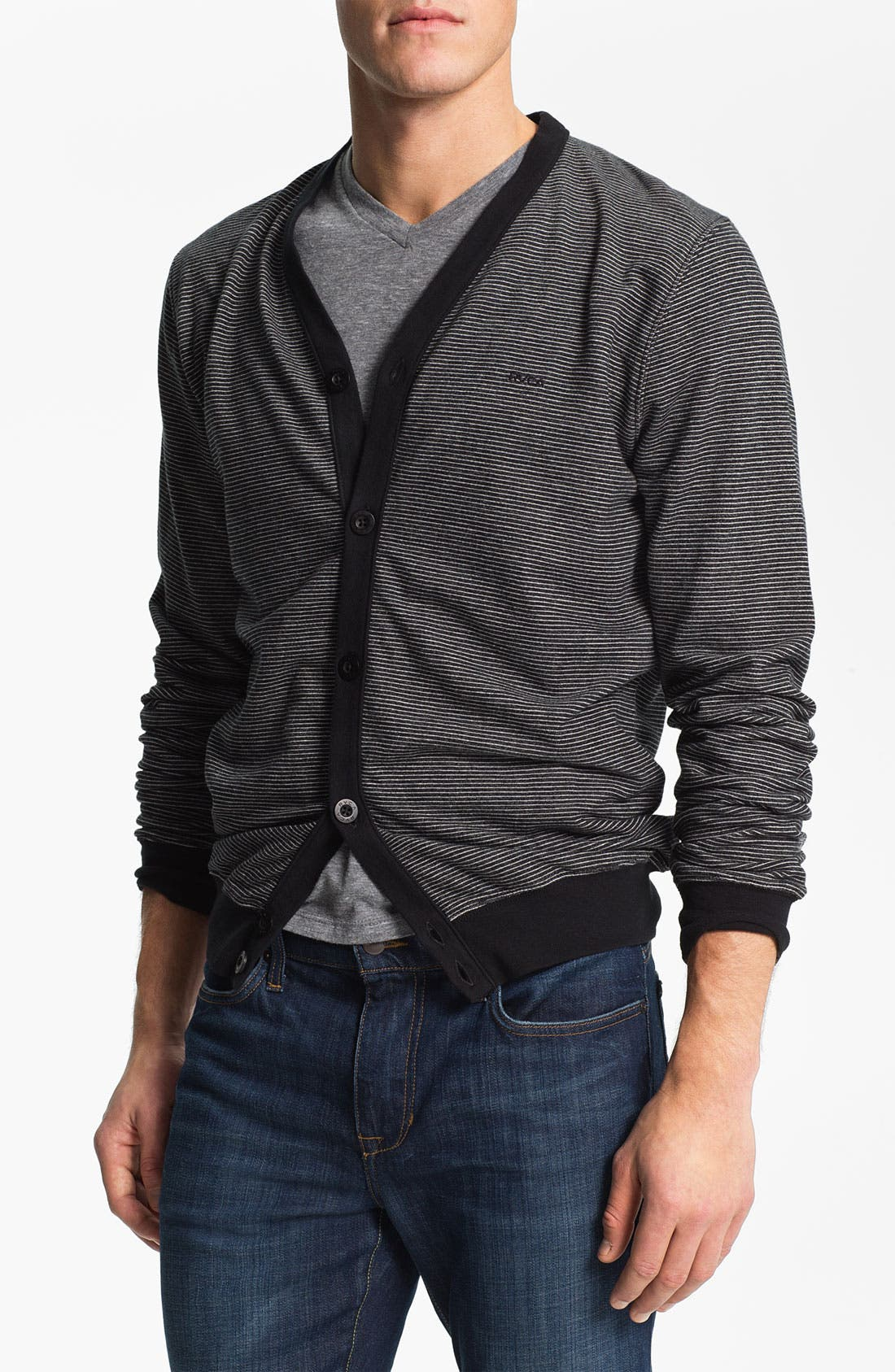 Alternate Image 1 Selected - RVCA 'Skaville' French Terry Cardigan