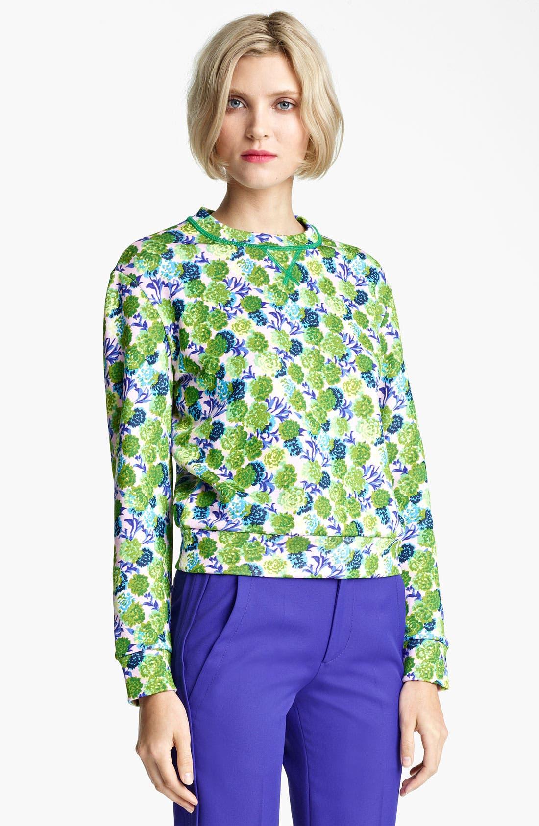 Alternate Image 1 Selected - MARC JACOBS Floral Print Sweatshirt