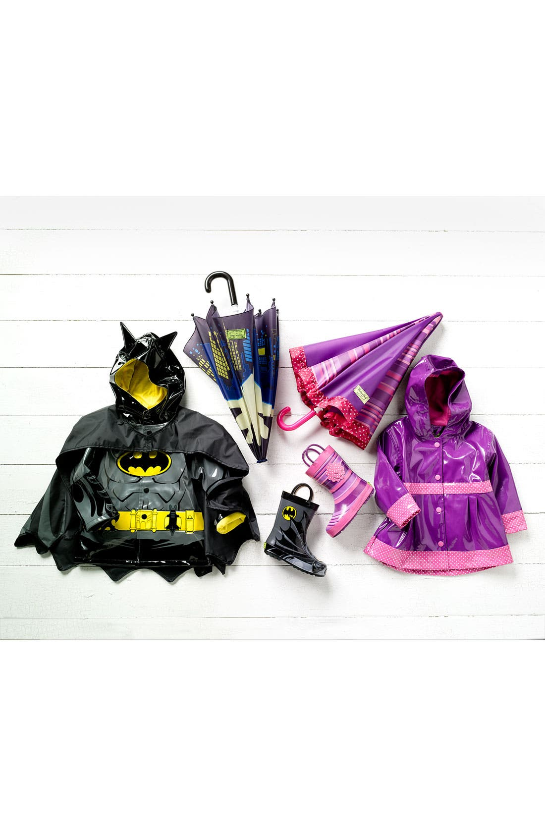 Alternate Image 5  - Western Chief 'Batman Everlasting' Light-Up Rain Coat (Toddler, Little Boys & Big Boys)