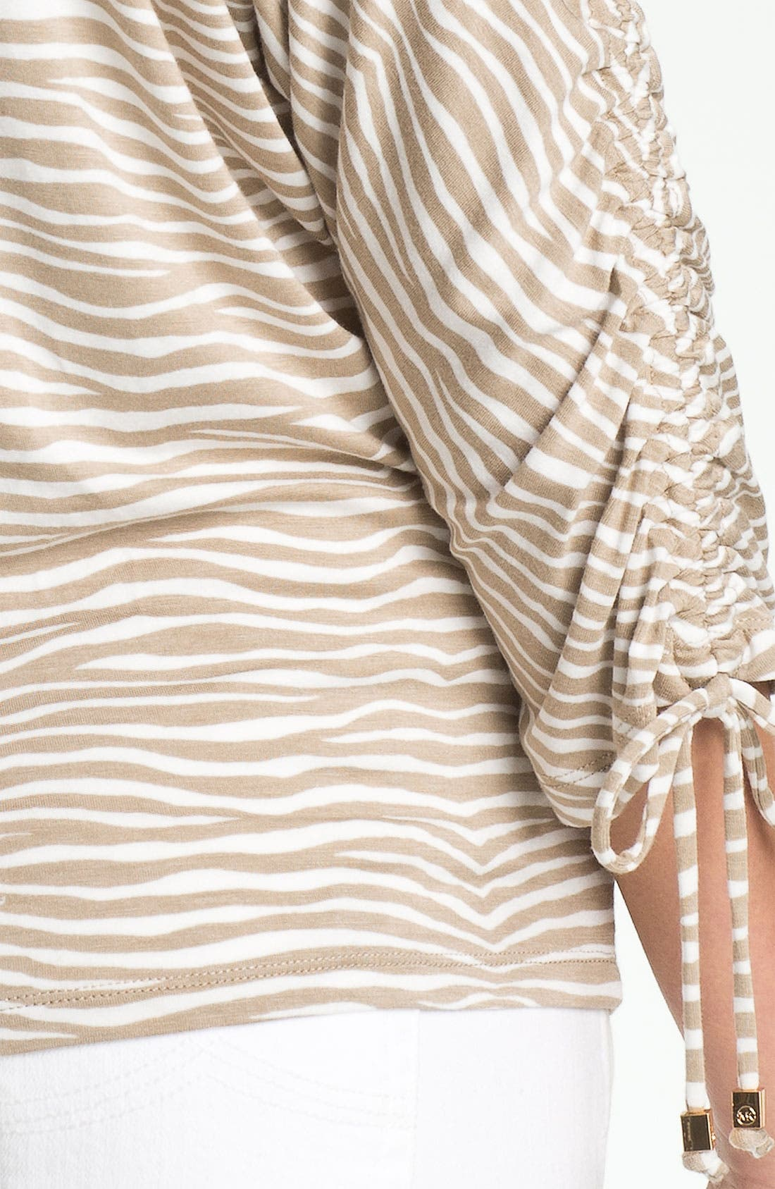Alternate Image 3  - MICHAEL Michael Kors Zebra Print Cold Shoulder Top