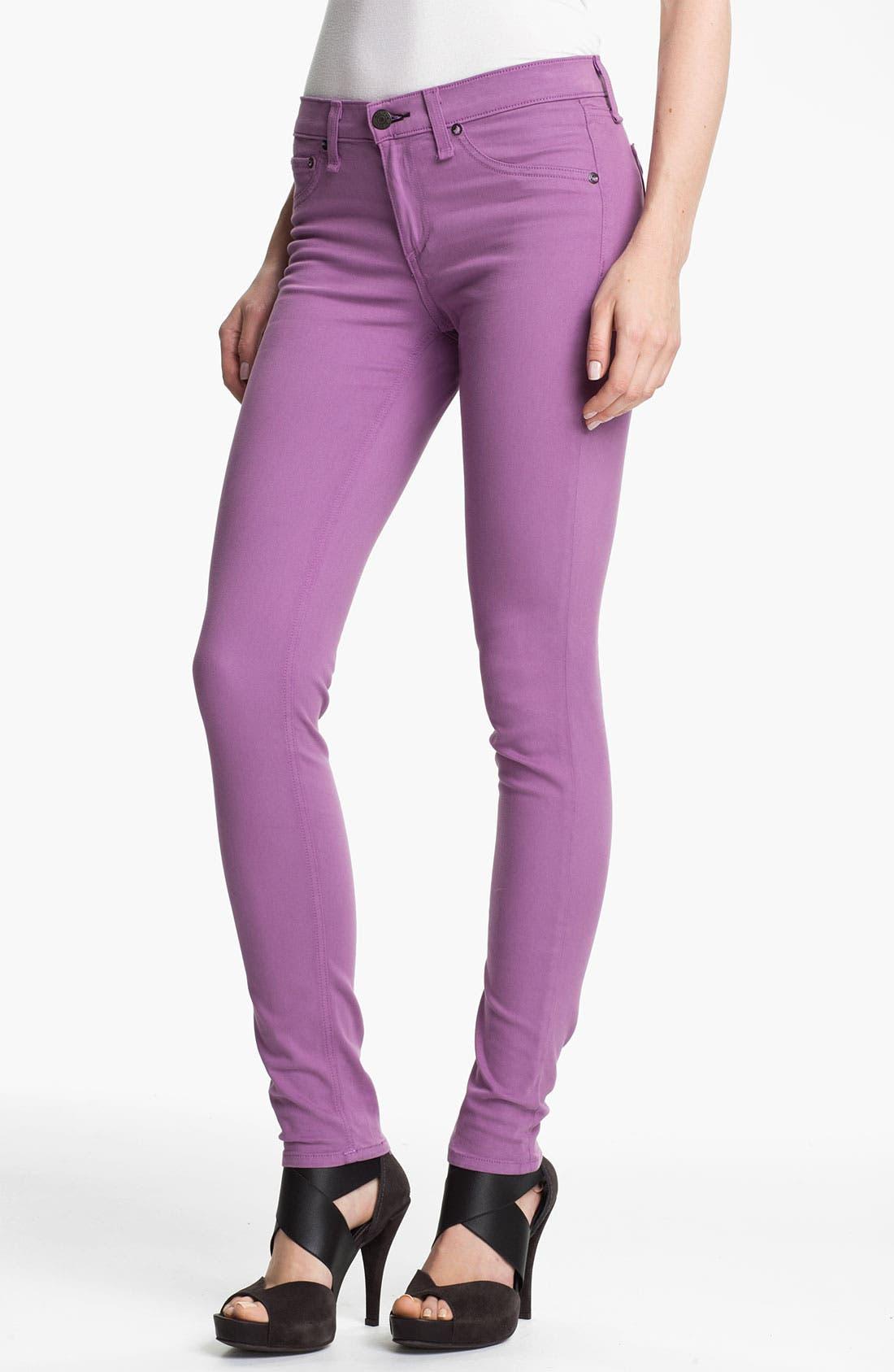 Plush Twill Leggings,                         Main,                         color, Violet