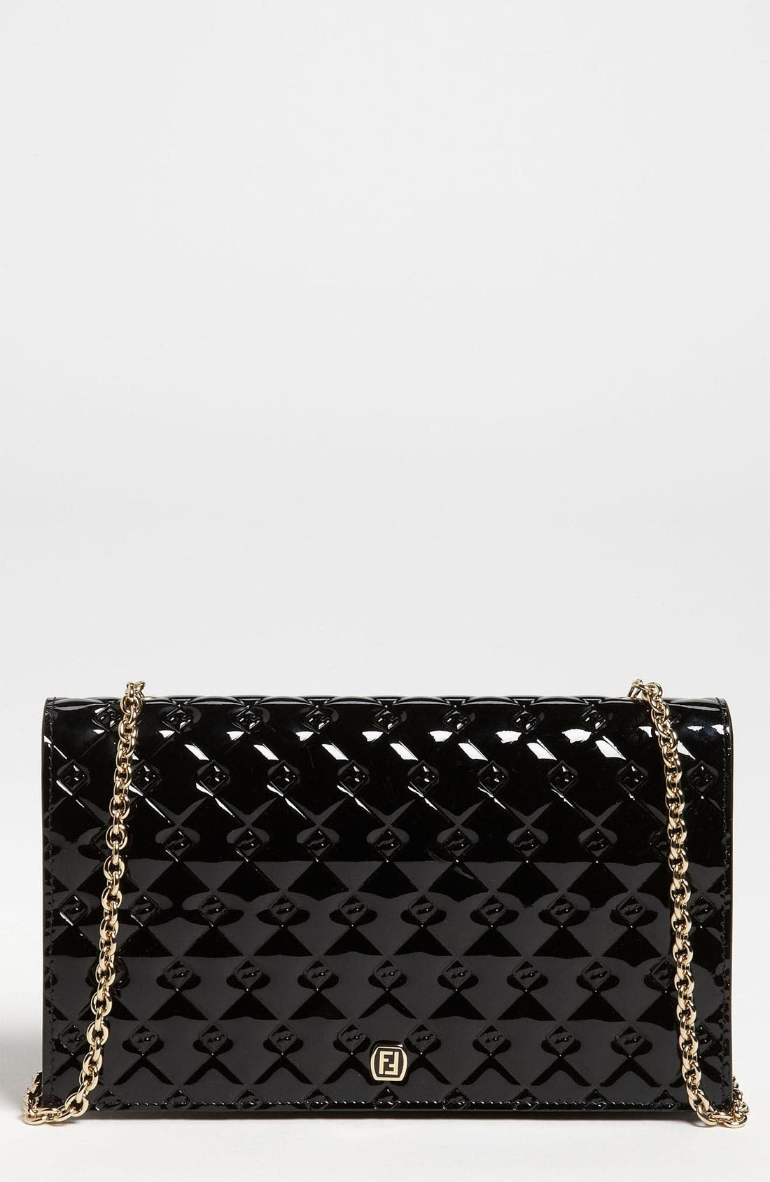 Main Image - Fendi 'Fendilicious' Patent Wallet on a Chain
