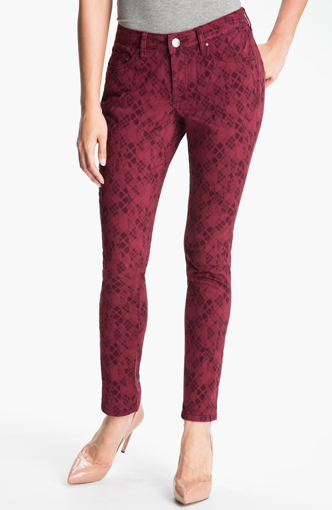 Alternate Image 1 Selected - Jag Jeans 'Chloe - Kingston Plaid' Skinny Jeans (Petite) (Online Exclusive)