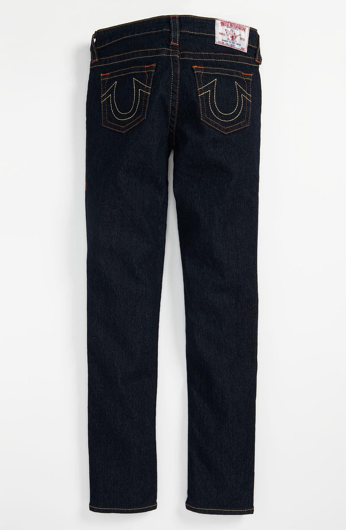 Alternate Image 1 Selected - True Religion Brand Jeans 'Casey' Denim Leggings (Big Girls)