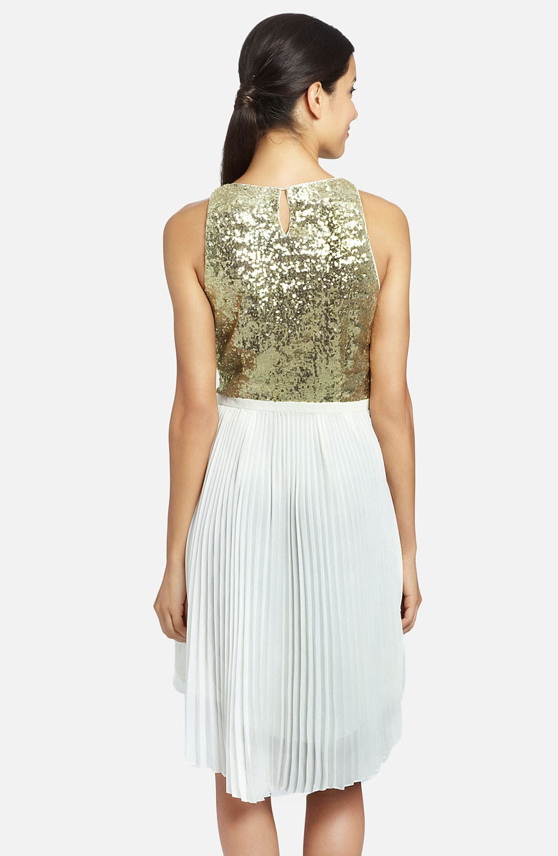 Alternate Image 2  - Cynthia Steffe 'Malena' Sequin Bodice Pleated Handkerchief Dress