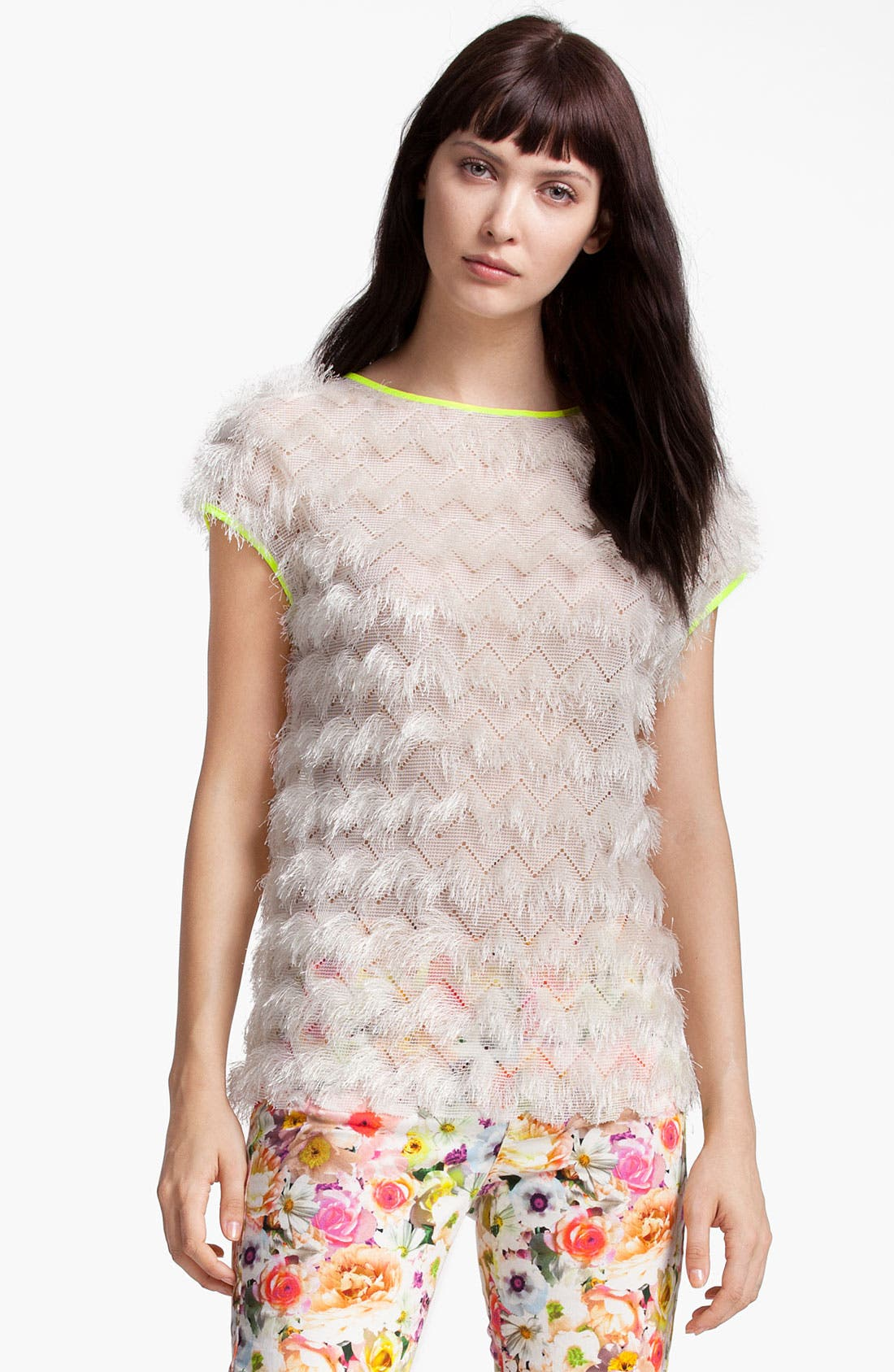 Alternate Image 1 Selected - MSGM Chevron Knit Top