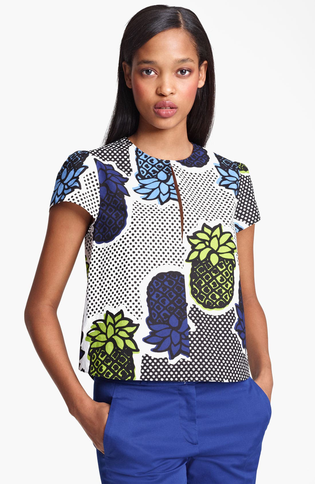 Main Image - Moschino Cheap & Chic Pineapple Print Blouse