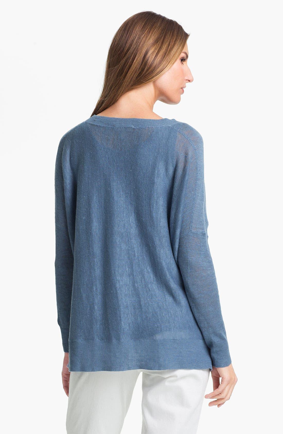 Alternate Image 2  - Eileen Fisher Lightweight Linen Tunic