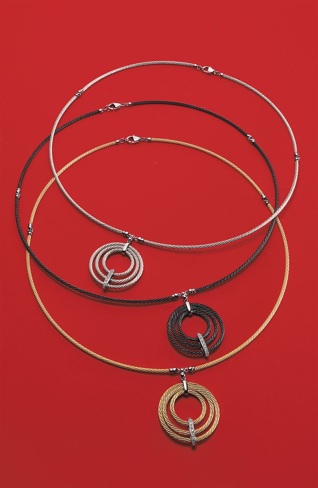 Alternate Image 3  - ALOR® Round Cable Pendant Necklace