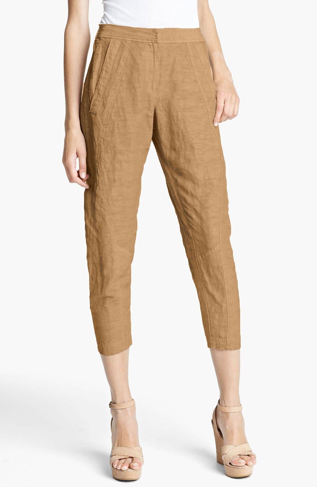 Alternate Image 1 Selected - Donna Karan Collection Pintucked Crop Pants