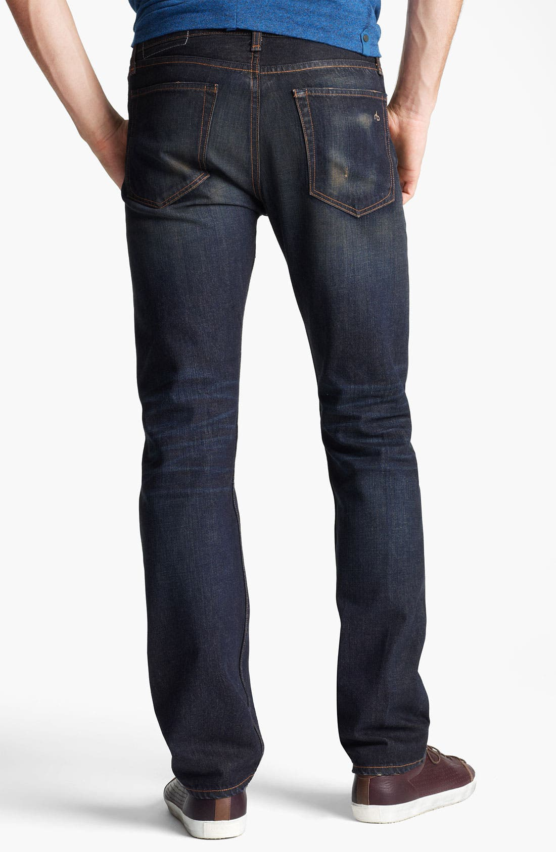 Alternate Image 2  - rag & bone 'RB19X' Slim Straight Leg Jeans (Charing Blue)