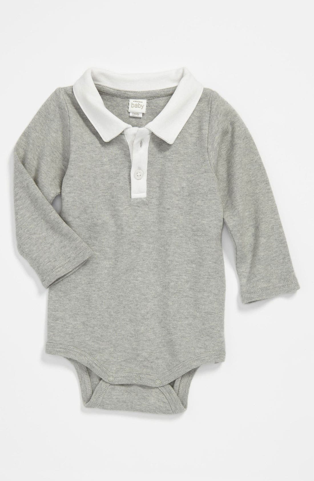 Alternate Image 1 Selected - Nordstrom Baby Polo Bodysuit (Infant)