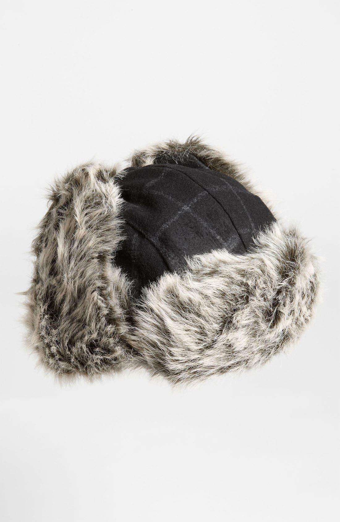 Alternate Image 2  - Free Authority Plaid Faux Fur Trapper Hat