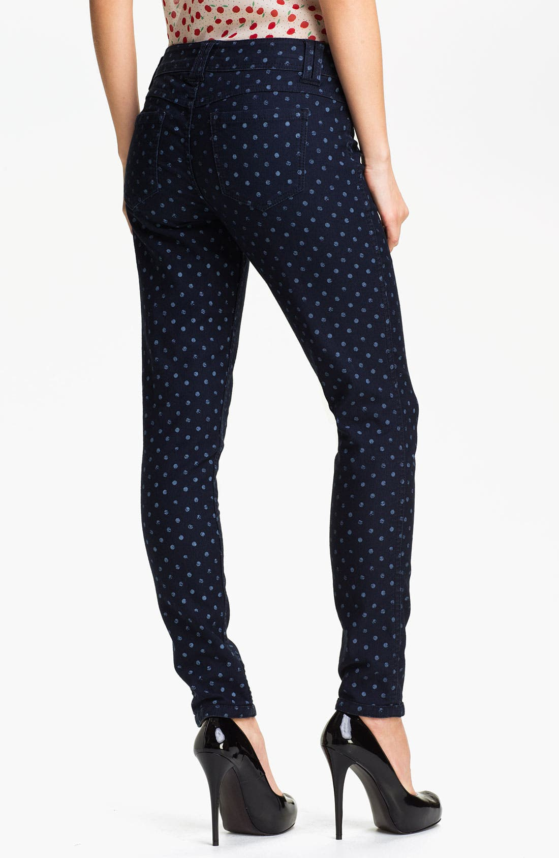 Alternate Image 2  - Wit & Wisdom Reversible Dot Print Skinny Jeans (Nordstrom Exclusive)