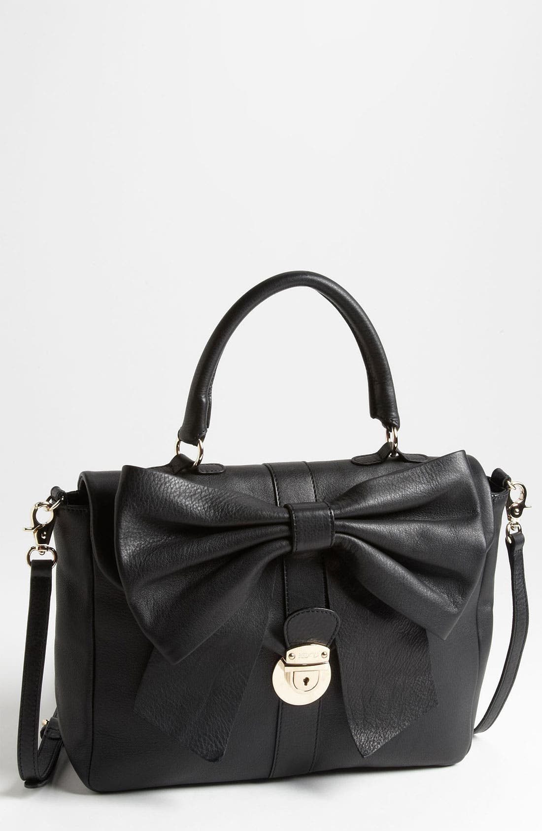 Alternate Image 1 Selected - RED Valentino 'Bow' Top Handle Leather Satchel
