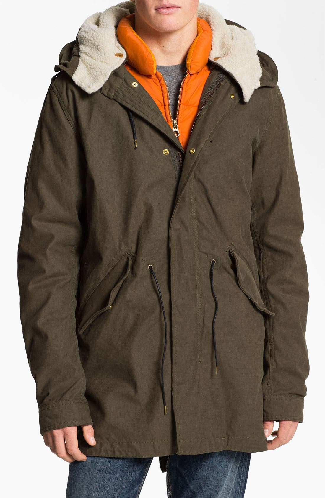 Main Image - Scotch & Soda Canvas Parka