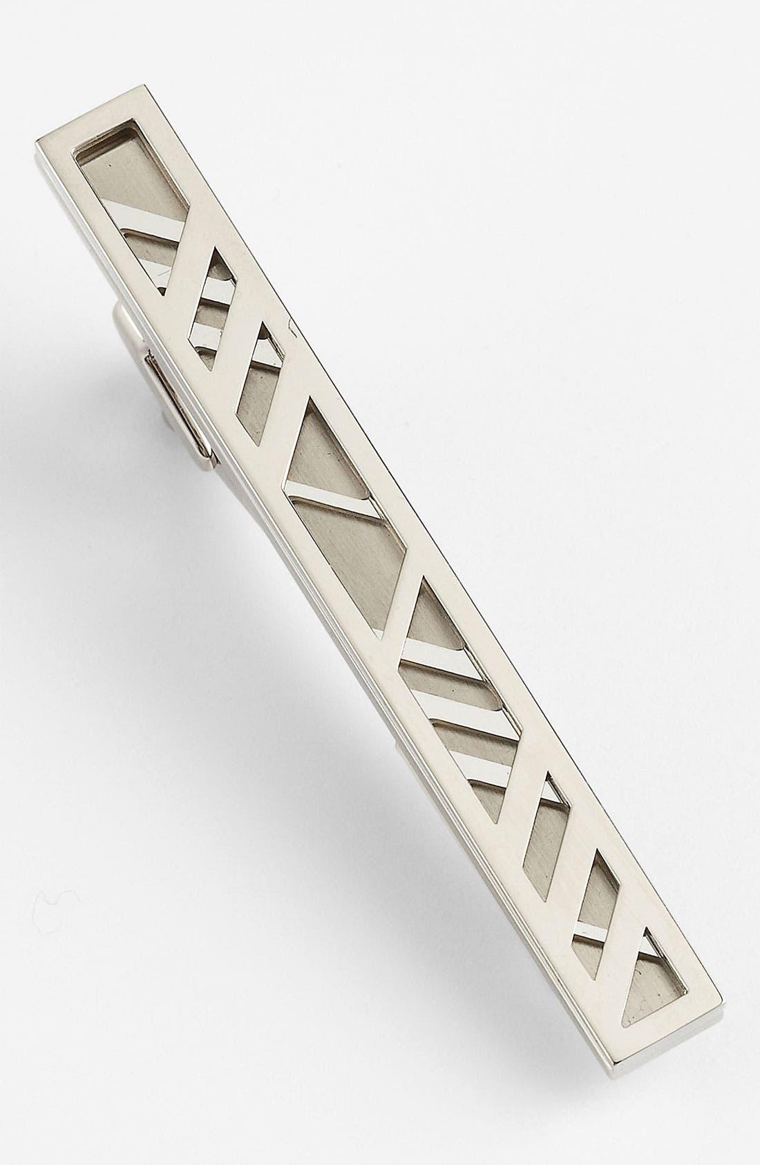 Main Image - Burberry Check Tie Bar