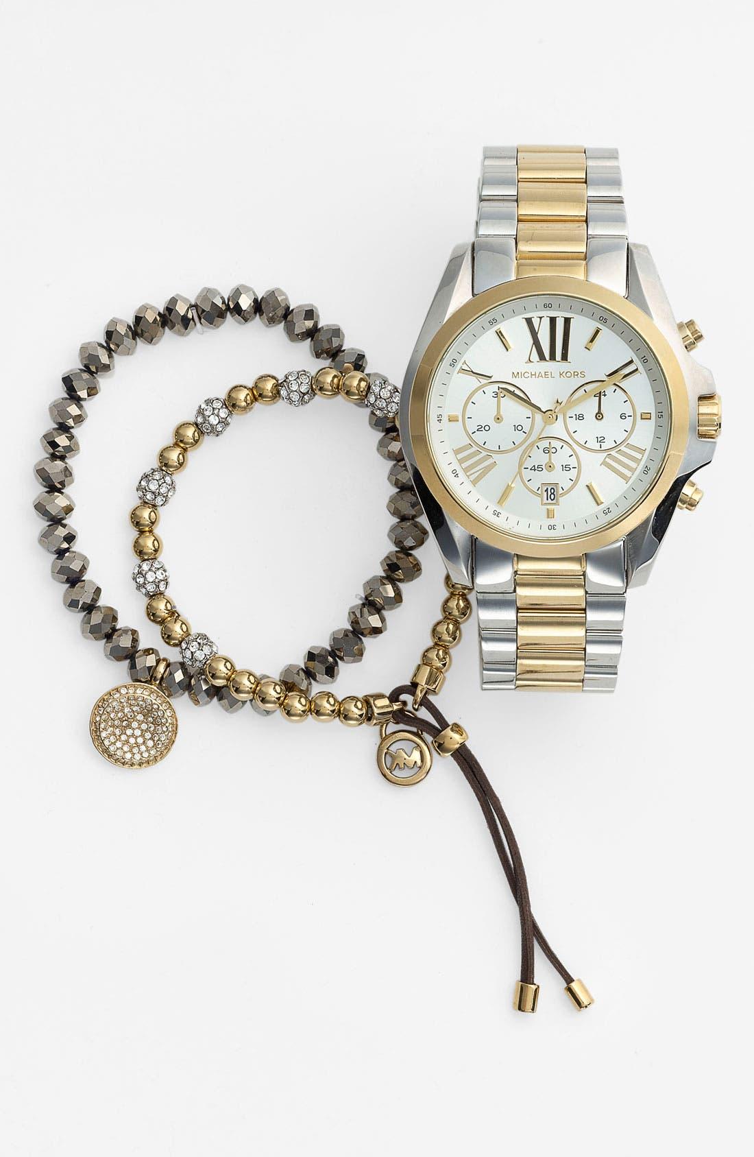 Alternate Image 3  - Michael Kors 'Brilliance' Charm Bead Stretch Bracelet