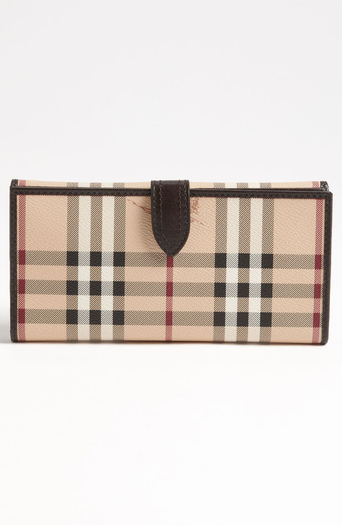 Alternate Image 4  - Burberry 'Haymarket Check' Checkbook Wallet