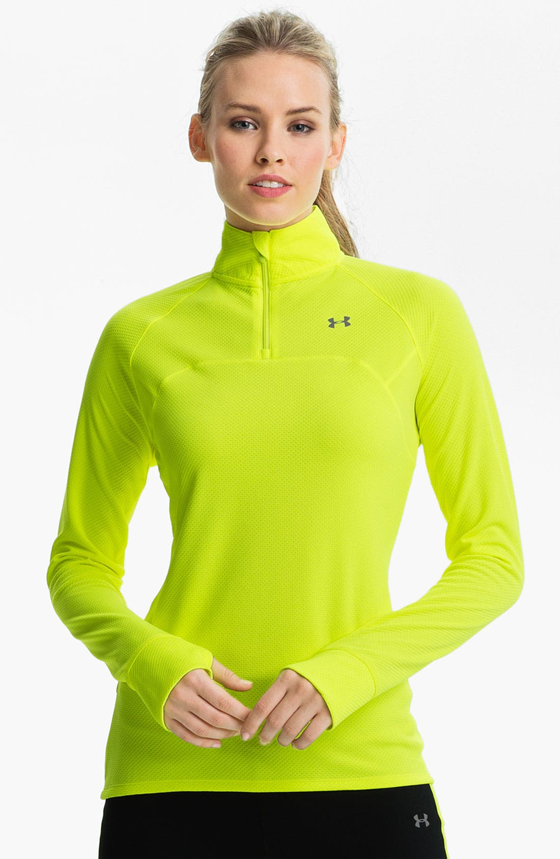 Alternate Image 1 Selected - Under Armour 'Escape' Quarter Zip Top