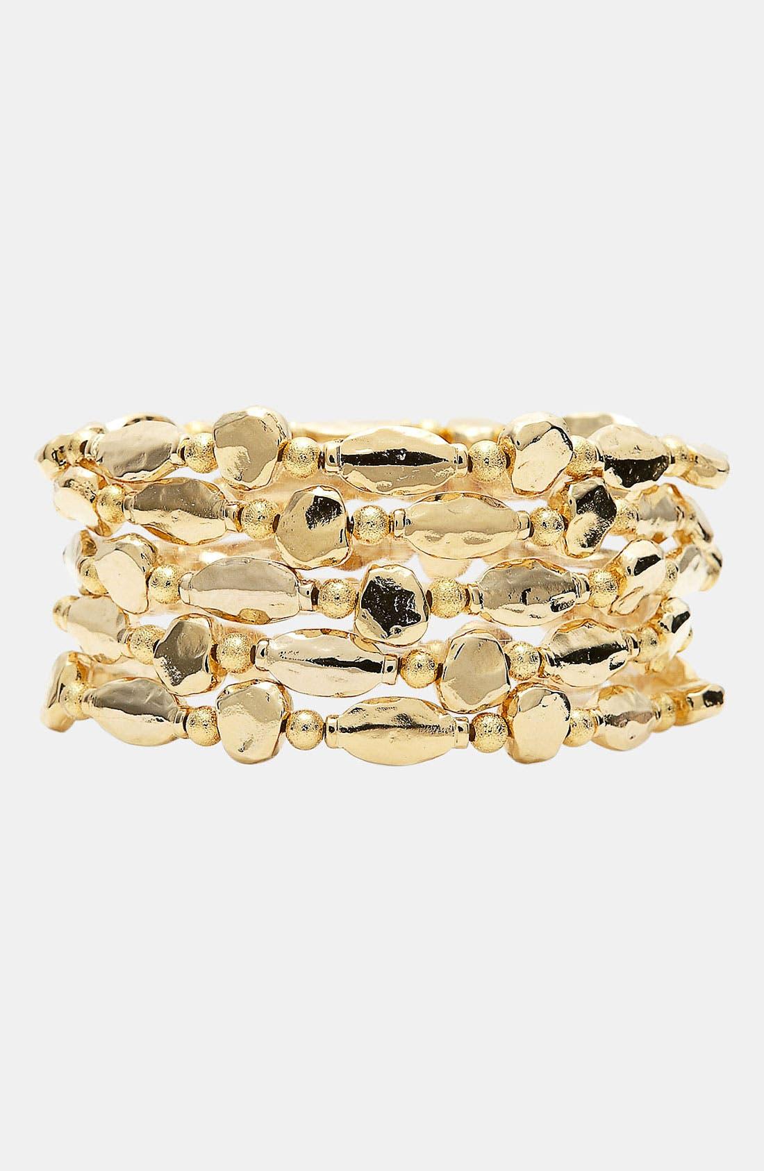 Alternate Image 1 Selected - Nordstrom 'Sand Dollar' Stretch Bracelets (Set of 5)