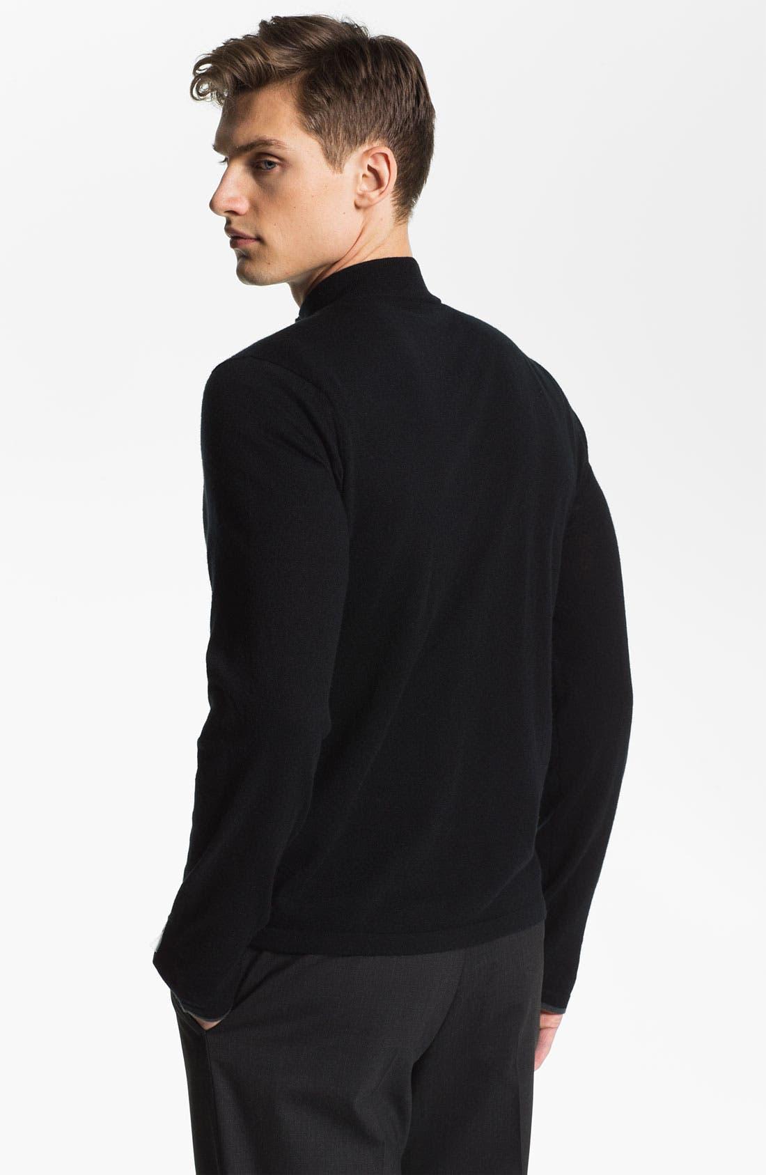 Alternate Image 2  - Armani Collezioni Quarter Zip Cashmere Sweater