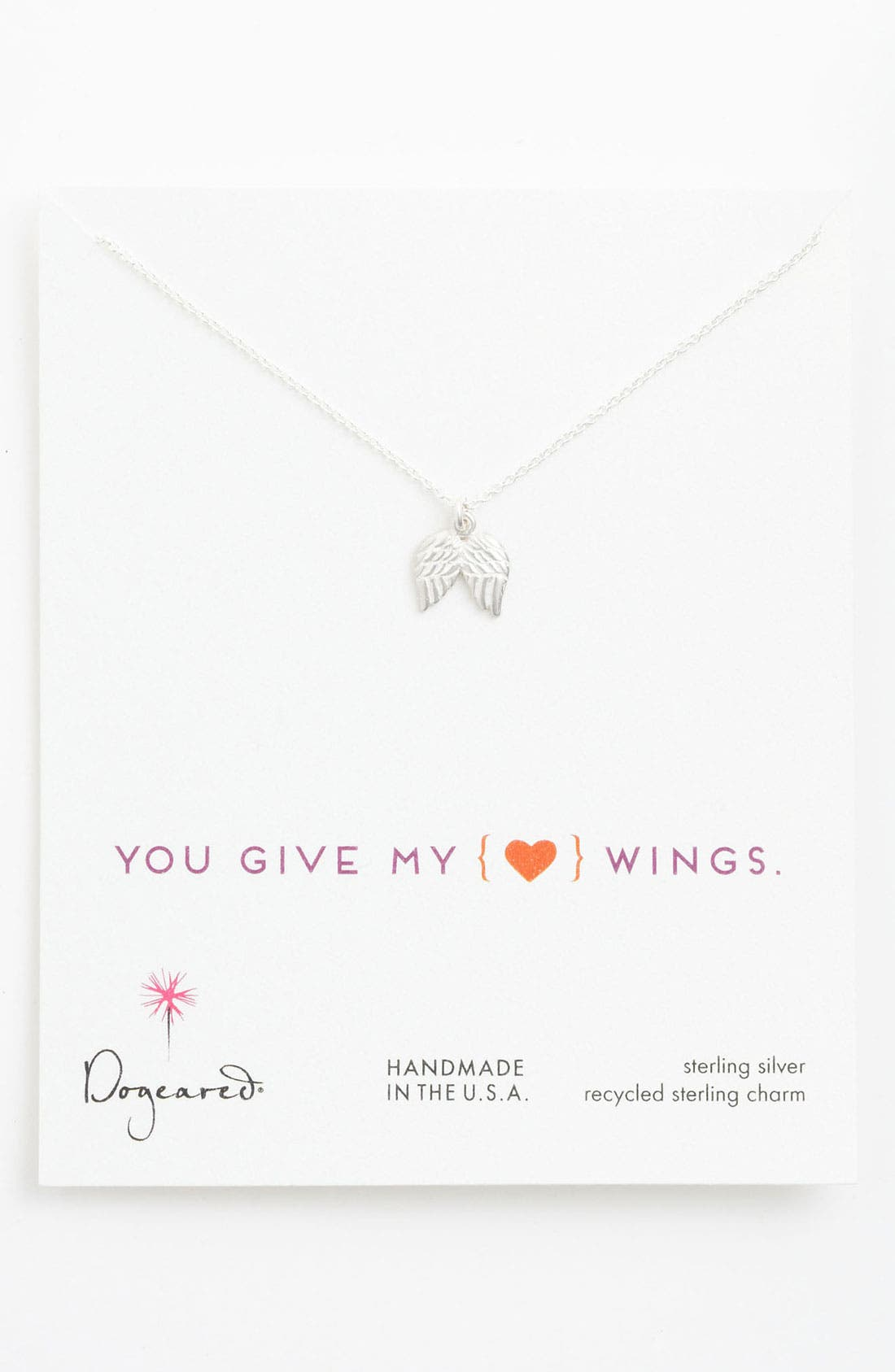 Main Image - Dogeared Angel Wings Pendant Necklace