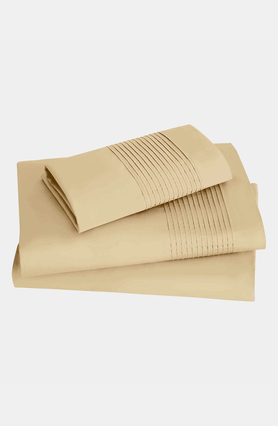 Main Image - Donna Karan 'Modern Classics - The Tailored Pleat' 400 Thread Count Fitted Sheet (Online Only)