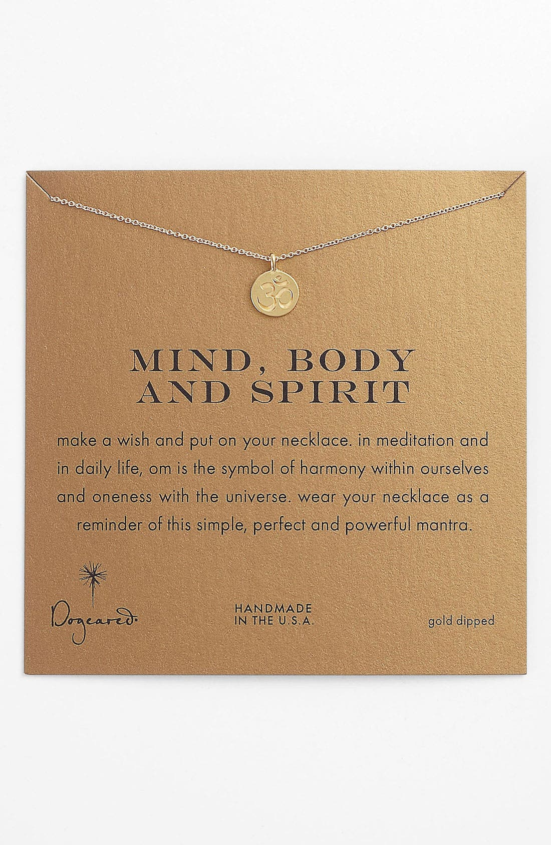 Alternate Image 1 Selected - Dogeared 'Mind, Body & Spirit' Om Pendant Necklace