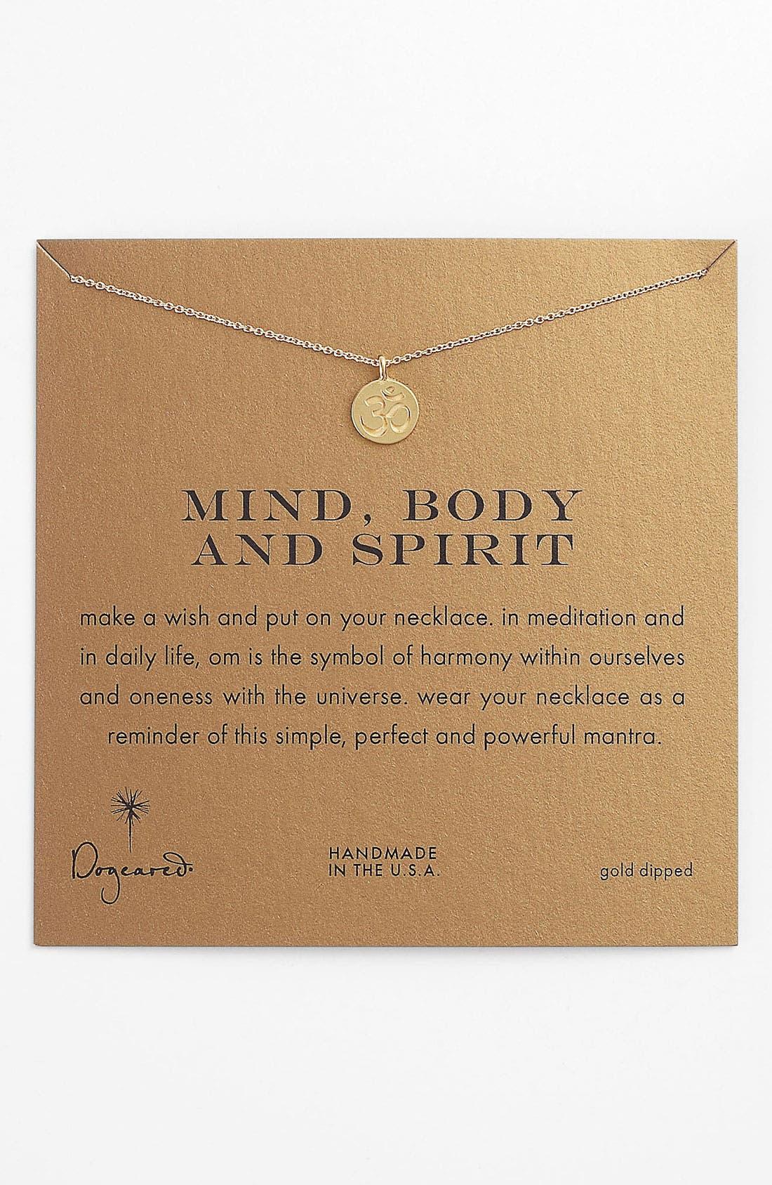 Main Image - Dogeared 'Mind, Body & Spirit' Om Pendant Necklace