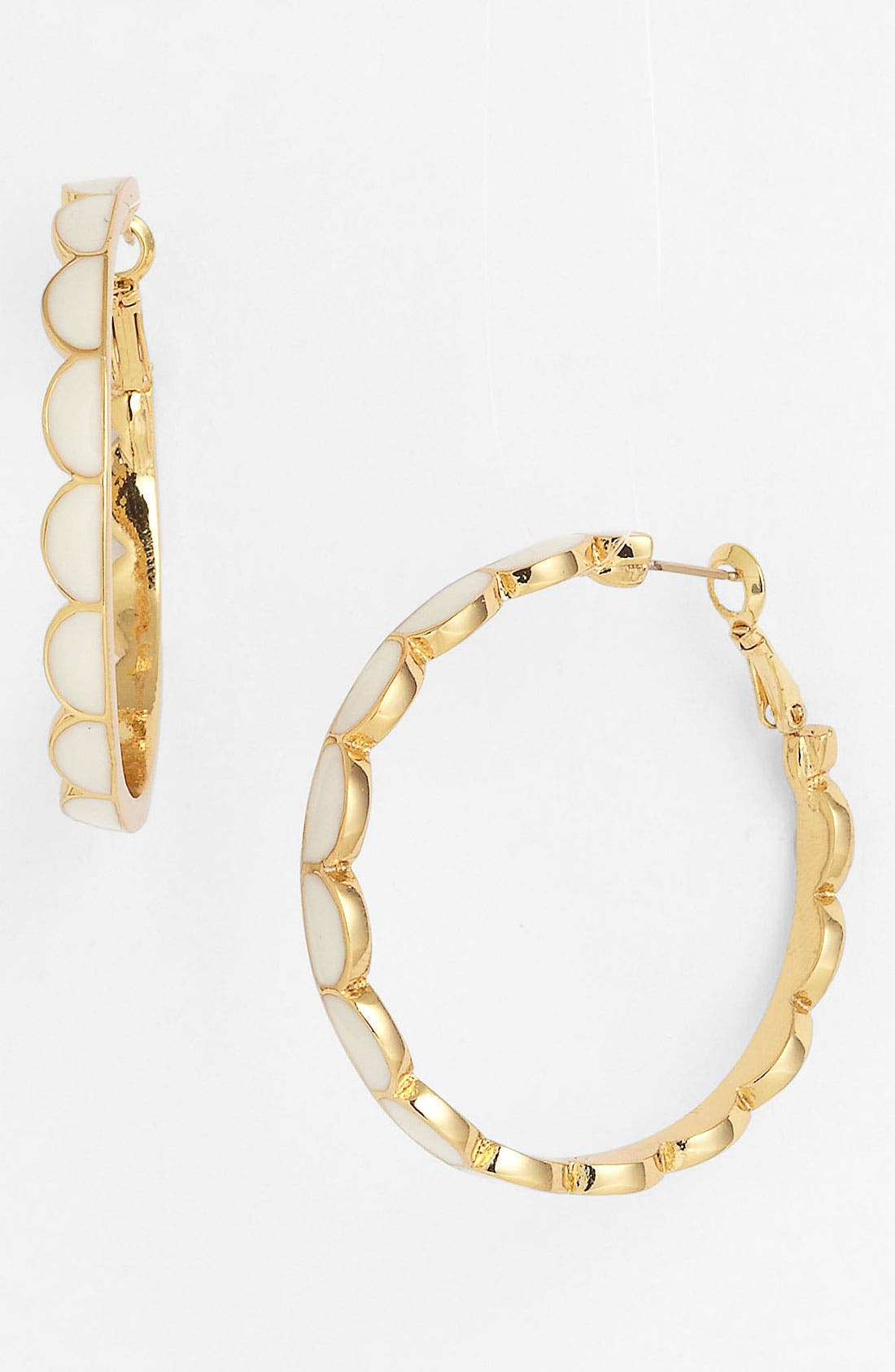 Alternate Image 1 Selected - kate spade new york 'scallop' hoop earrings
