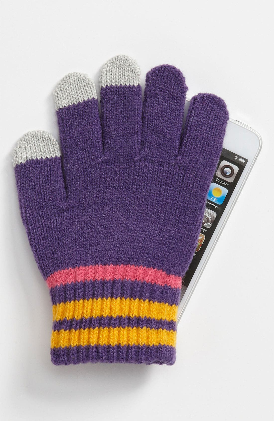 Alternate Image 2  - The Accessory Collective Tech Tip Gloves (Girls)