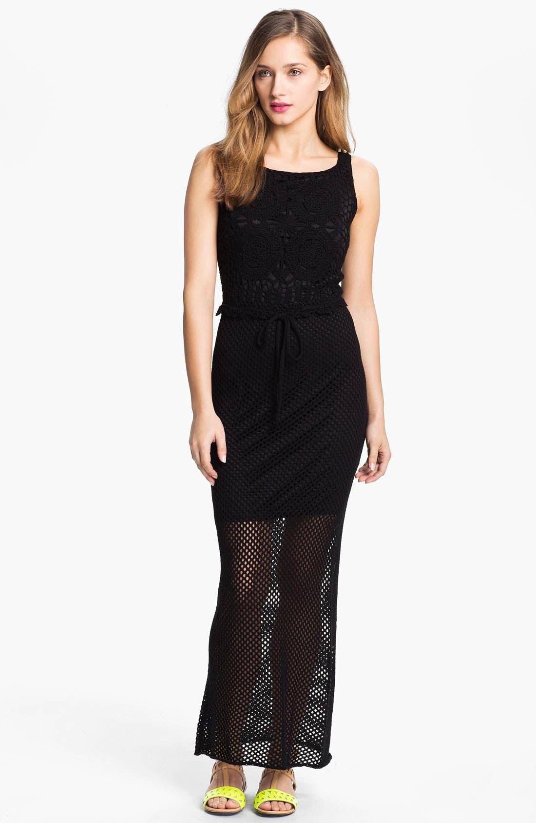 Main Image - Taylor Dresses Crochet Maxi Dress