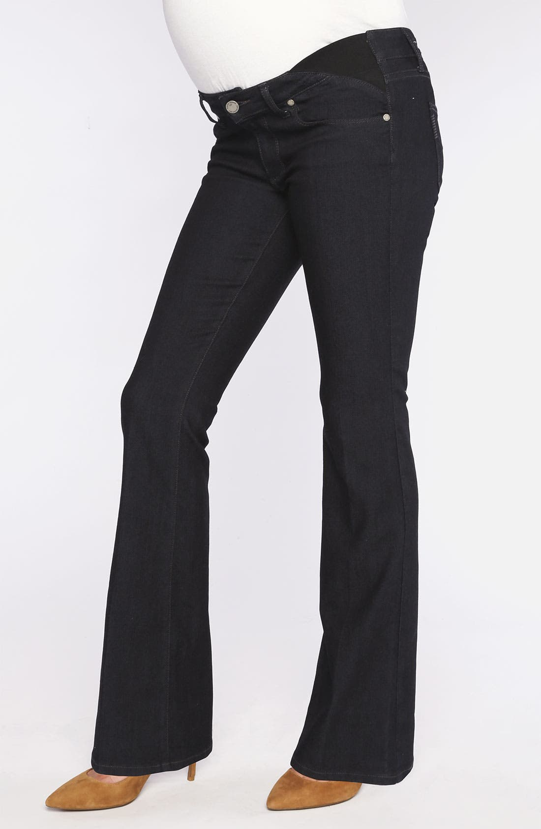 Alternate Image 1 Selected - Paige Denim 'Skyline' Maternity Bootcut Jeans (Petite) (Twilight)