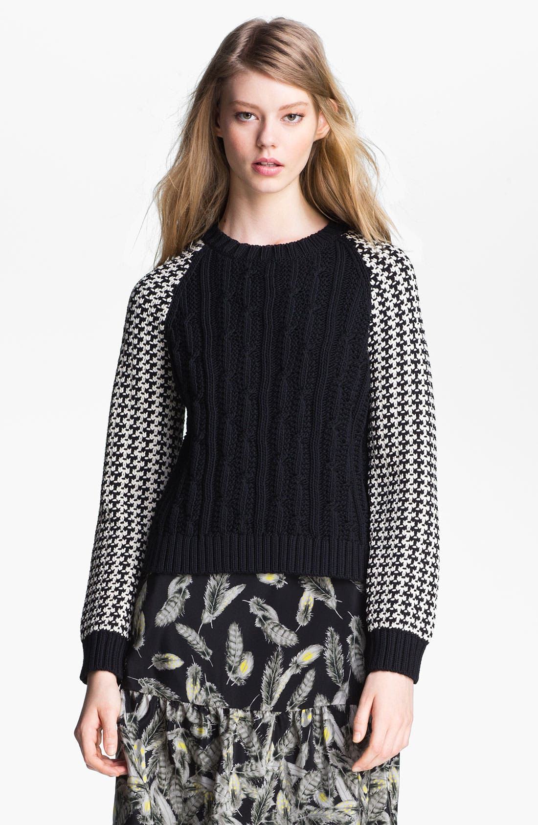 Alternate Image 2  - Miss Wu Contrast Sleeve Sweater (Nordstrom Exclusive)